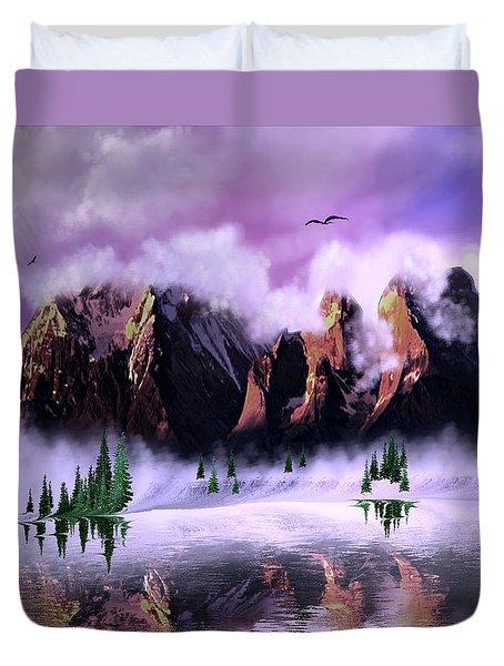 Cold Mountain Morning Duvet Cover