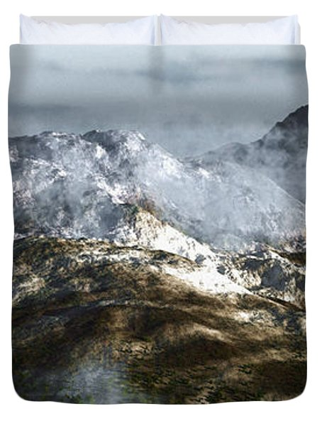 Cold Mountain Duvet Cover by Richard Rizzo