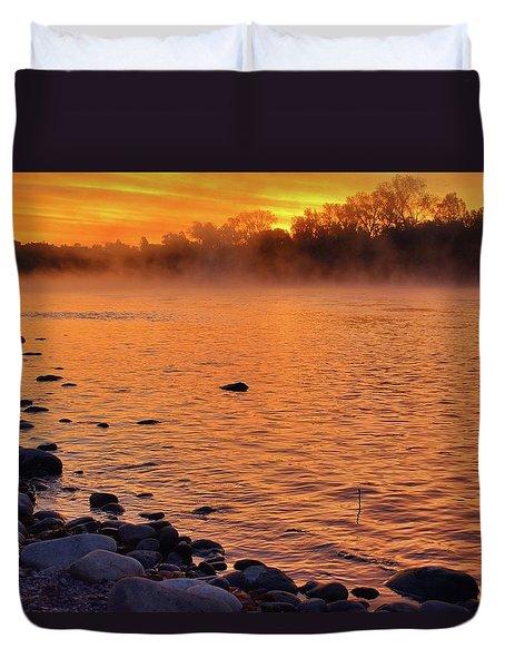 Cold November Morning Duvet Cover