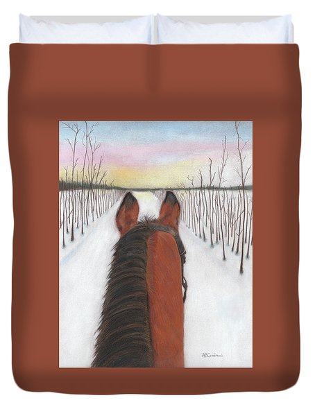 Cold Ride Duvet Cover