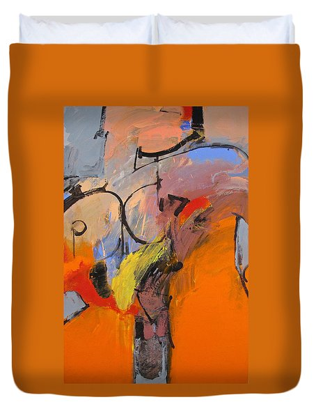 Duvet Cover featuring the painting Cold Shoulder  by Cliff Spohn