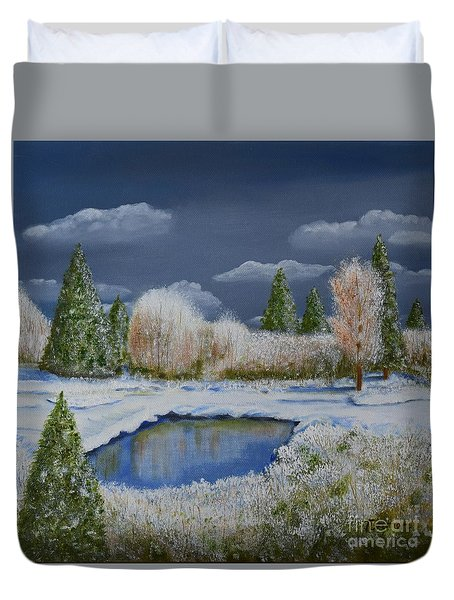 Cold Sky 1 Duvet Cover by Melvin Turner
