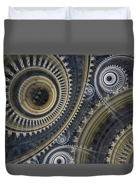Cold Steel Duvet Cover