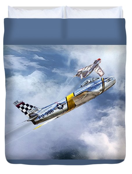 Cold War Clash Duvet Cover by Peter Chilelli