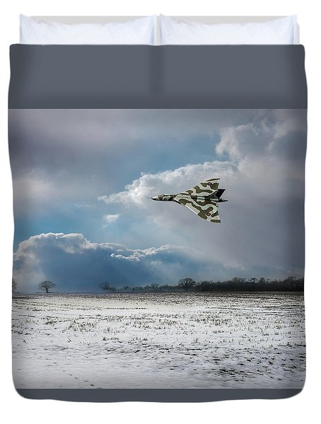 Duvet Cover featuring the photograph Cold War Warrior by Gary Eason