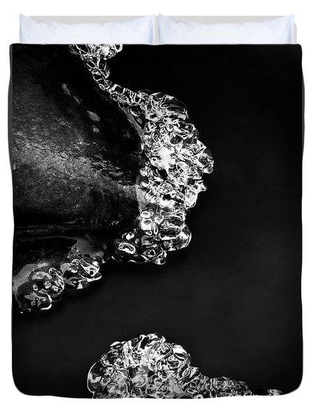 Cold White Diamonds Duvet Cover by Darren White