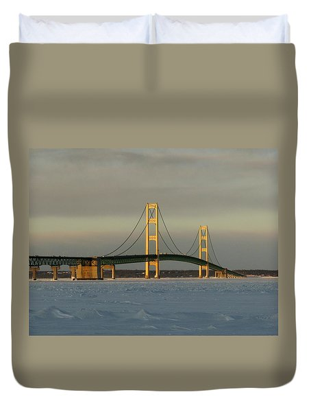 Cold Winter Bridge Duvet Cover