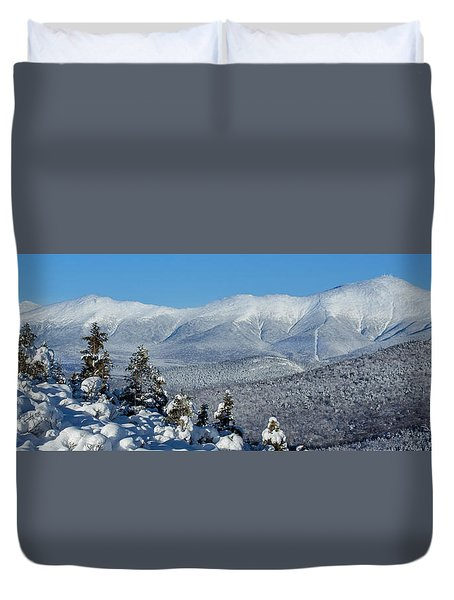 Cold Winter Day On Haystack Nubble Duvet Cover