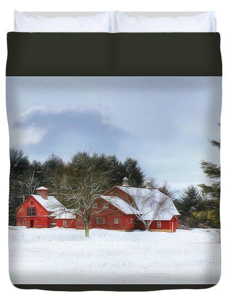 Cold Winter Days In Vermont Duvet Cover