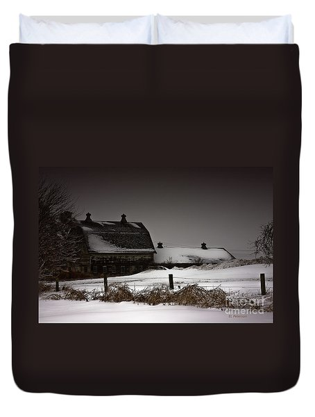 Cold Winter Night Duvet Cover