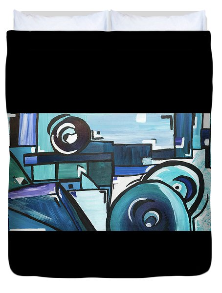 Coldest Eyes Duvet Cover