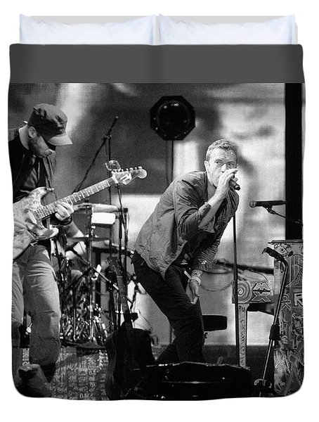 Coldplay 15 Duvet Cover by Rafa Rivas