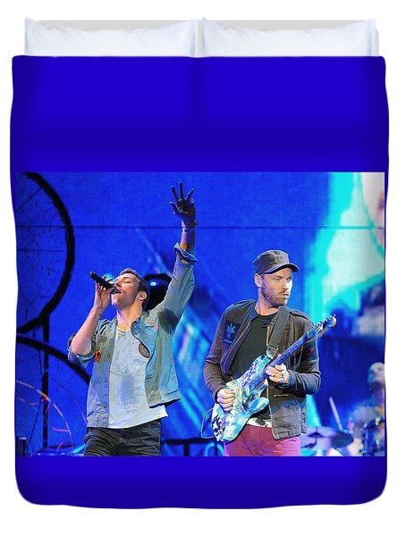 Coldplay6 Duvet Cover by Rafa Rivas