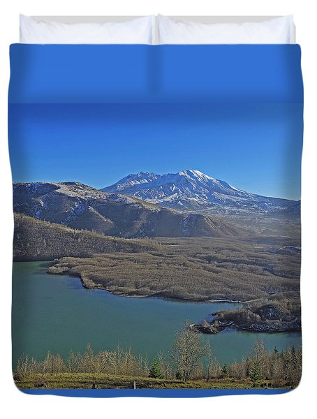 Duvet Cover featuring the photograph Coldwater Lake by Jack Moskovita