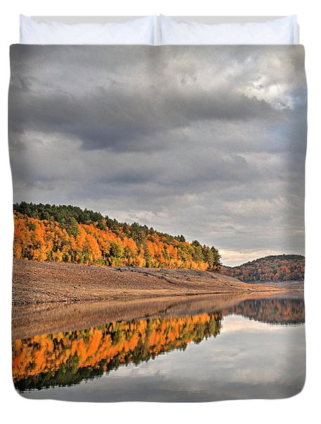 Colebrook Reservoir - In Drought Duvet Cover