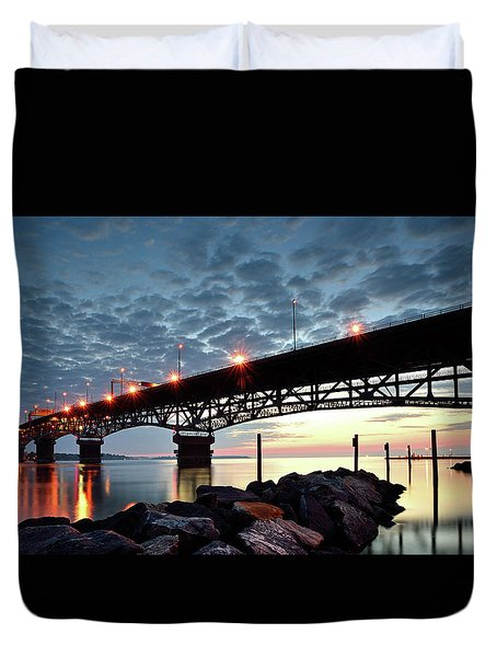 Coleman Bridge Reflections Duvet Cover