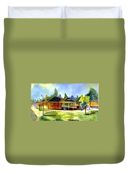 Colfax Rr Depot Duvet Cover