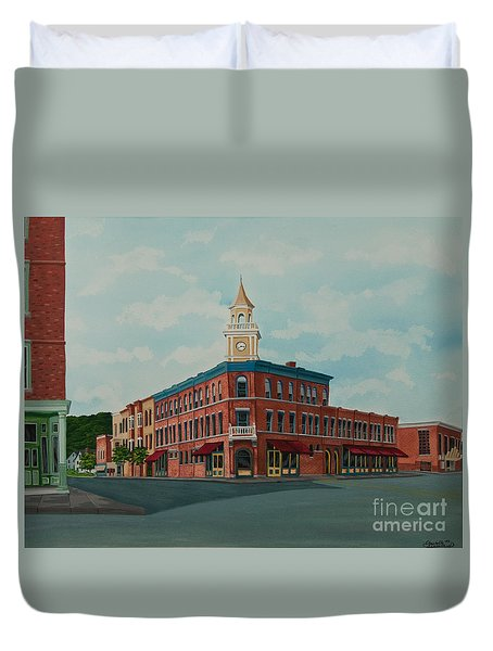 Colgate Bookstore Duvet Cover by Charlotte Blanchard