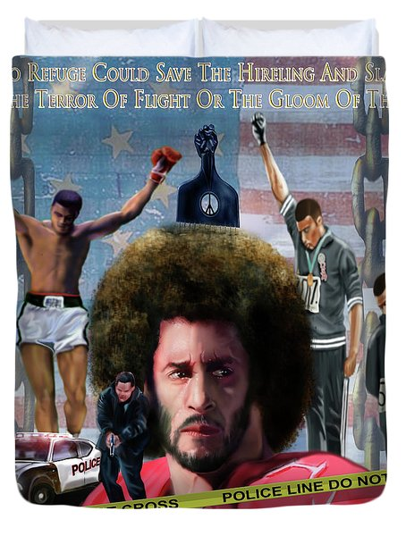 Colin Kaepernick Amongst The Brave Few 2a Duvet Cover