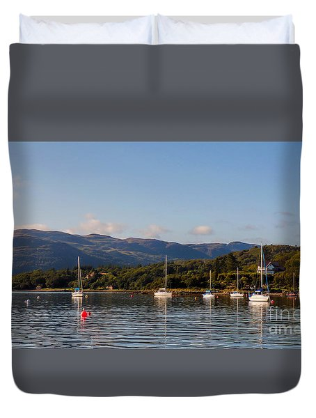 Duvet Cover featuring the photograph Colintraive by Lynn Bolt