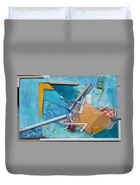 Collage Abstract #51317 Duvet Cover