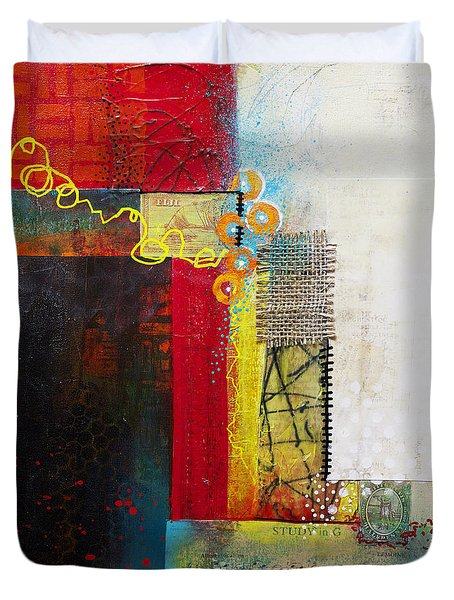 Duvet Cover featuring the painting Collage Art 1 by Patricia Lintner