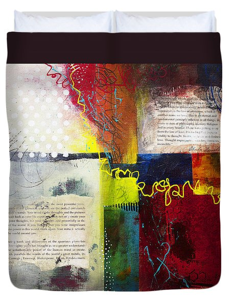 Duvet Cover featuring the painting Collage Art 3 by Patricia Lintner
