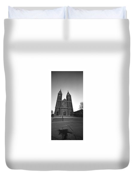 Collage Church Duvet Cover by Dustin Soph