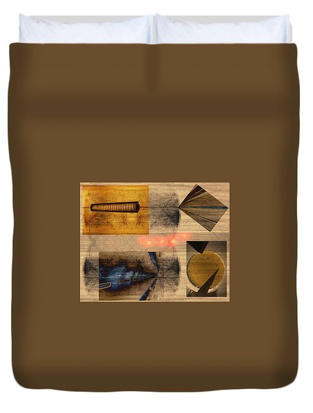Collage - Cle Airport Duvet Cover