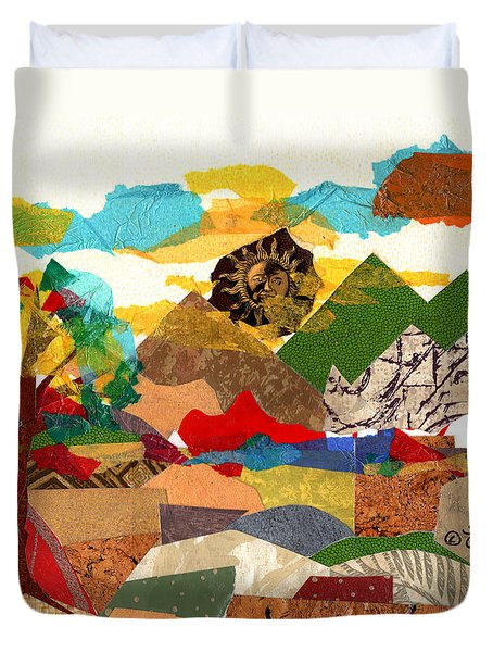 Collage Landscape 3 Duvet Cover