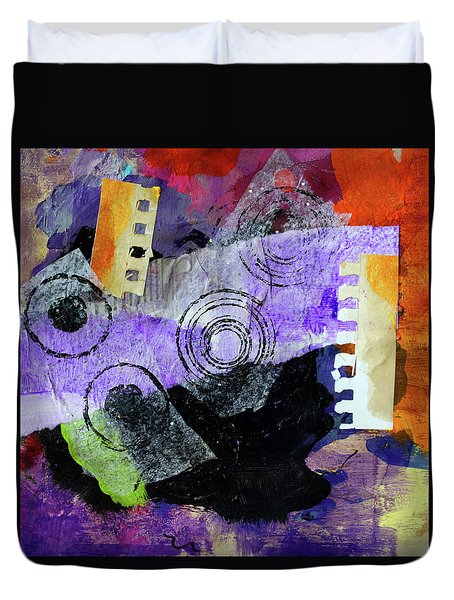 Collage No 1 Duvet Cover by Nancy Merkle