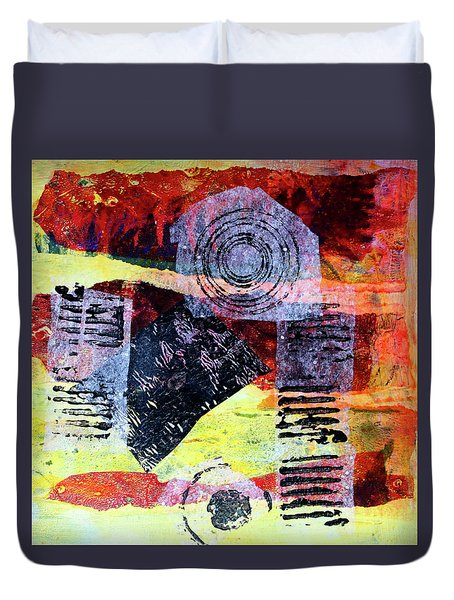 Collage No. 3 Duvet Cover by Nancy Merkle