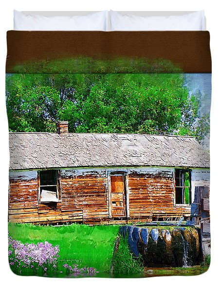 Duvet Cover featuring the photograph Collage by Susan Kinney