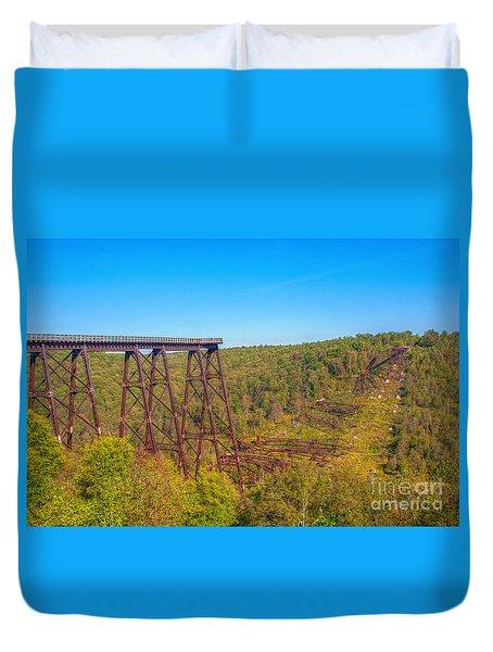 Collapsed Kinzua Railroad Bridge Duvet Cover