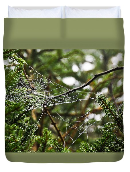Collecting Raindrops Duvet Cover