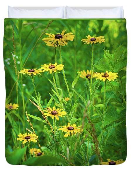 Duvet Cover featuring the photograph Collection In The Clearing by Bill Pevlor