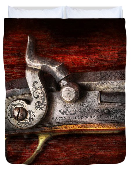 Collector - Gun - Rifle Works Duvet Cover by Mike Savad