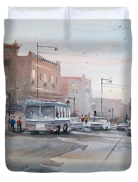 College Avenue - Appleton Duvet Cover by Ryan Radke
