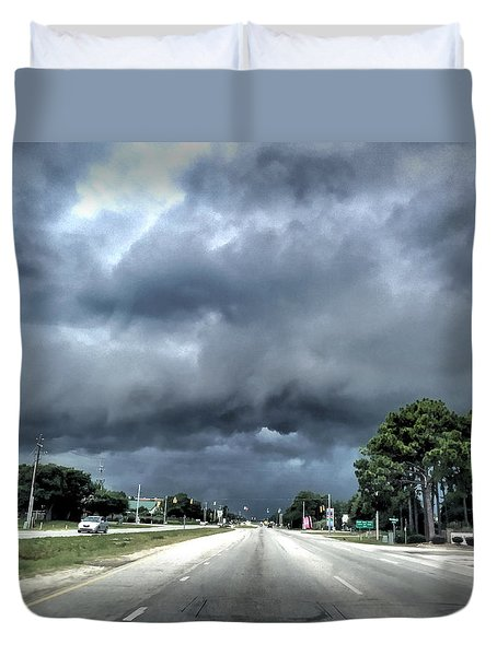 College Road Storm Duvet Cover