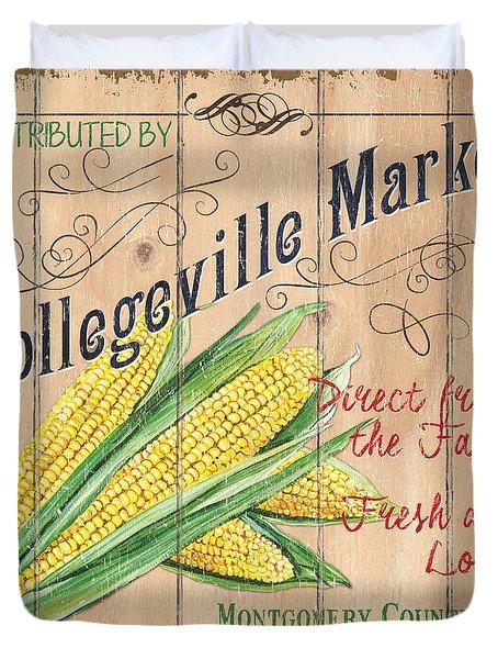 Collegeville Market Duvet Cover