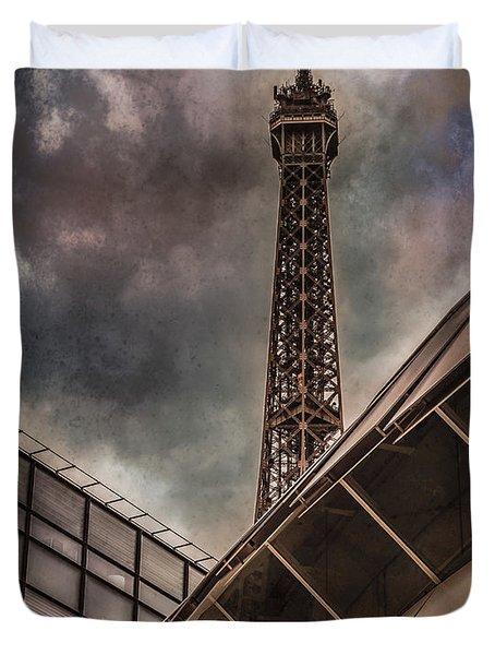 Paris, France - Colliding Grids Duvet Cover