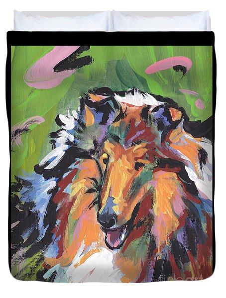 Collie Folly Duvet Cover by Lea S