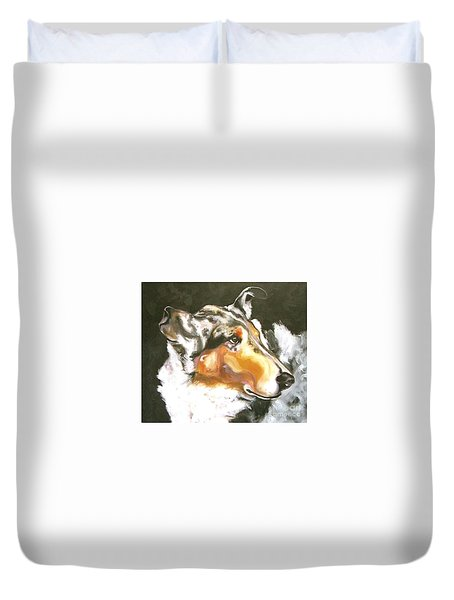 Collie Merle Smooth 2 Duvet Cover