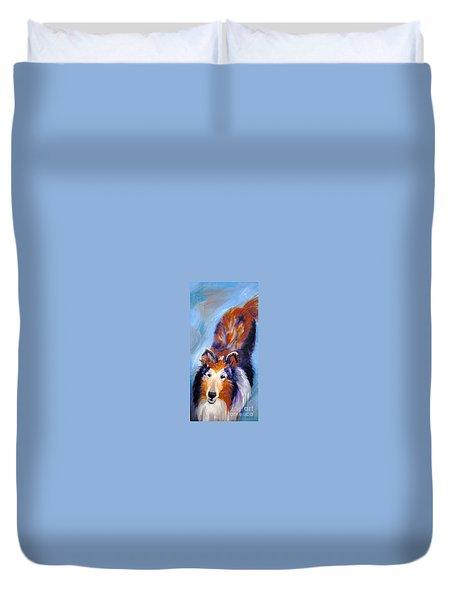 Collie Sable Rough 1 Duvet Cover