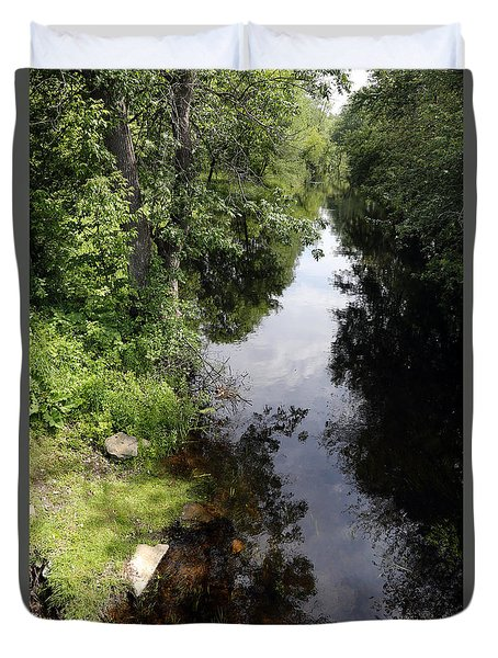 Duvet Cover featuring the photograph Collins Creek June 15 2015 by Jim Vance