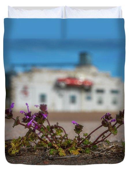 Collyer Sidewalk Blooms Duvet Cover by Darren White