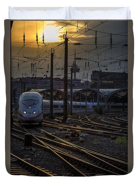 Cologne Central Station Duvet Cover