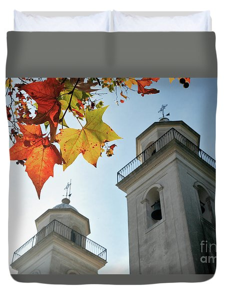 Duvet Cover featuring the photograph Colonia Del Sacramento Church by Bernardo Galmarini