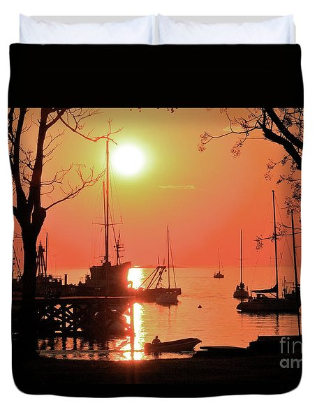 Duvet Cover featuring the photograph Colonia Del Sacramento I by Bernardo Galmarini