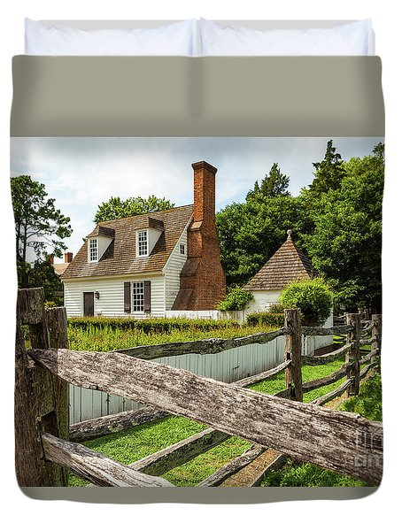 Colonial America House Duvet Cover
